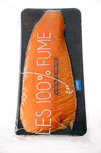 pas cher un bon Découpé avec filet de saumon fumé, «viande hachée» sans coquille.