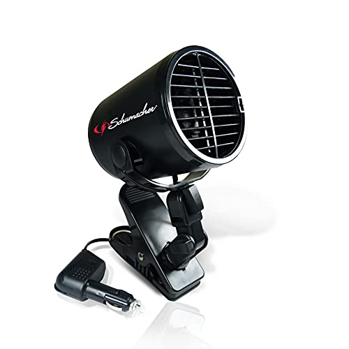 Schumacher Turbo Fan with Heavy-Duty Clamp – 12V – for Cars, Trucks, Buses, RVs, and Boats