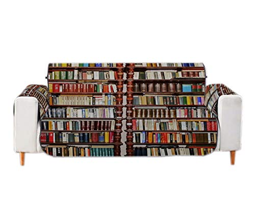 A.Monamour Fundas Decorativas para Sofás Vintage Biblioteca