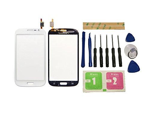 Flügel per Samsung Galaxy Grand Neo i9060 i9062 Touch Screen Digitizer Bianco Schermo Vetro ( Senza LCD Display ) di Ricambio e Strumenti Gratuiti