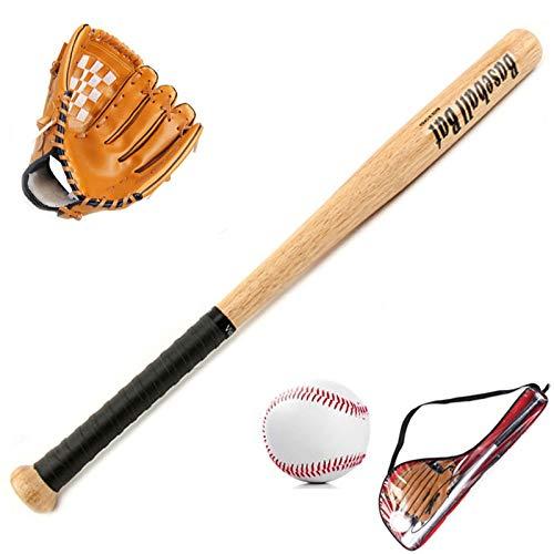 FHCSAO Baseball Handschuh,Kids Teens Jungen Mädchen Sport Baseball Starters Set,25 Zoll Baseballschläger + 10.5Zoll Baseballhandschuh + Standard Nr. 9 Baseball,Brown-10.5inches