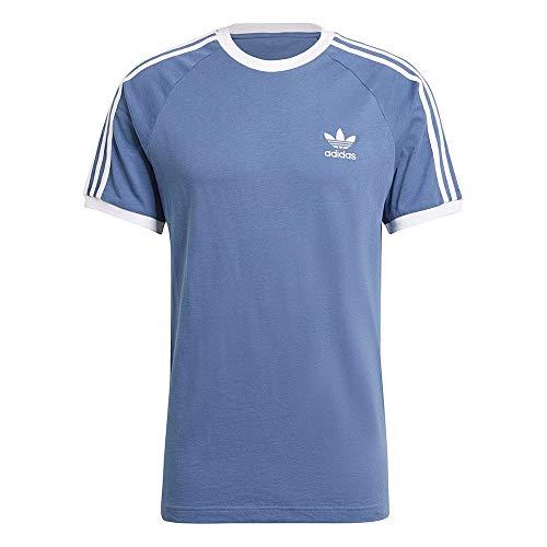 adidas Herren 3-stripes Tee T Shirt, Crew Blue, S EU