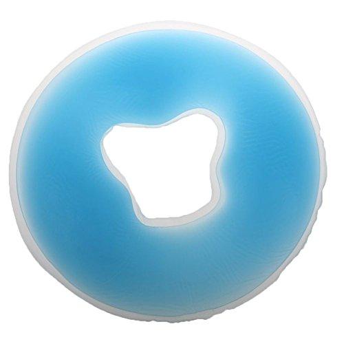 Dciustfhe Almohada de masaje de silicona suave para salón de belleza, para la cara, para relajarse, para el cuello, color azul, M