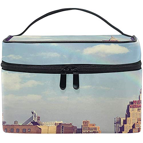 Trousse de maquillage Rainbow Cityscape Building Travel Cosmetic Bags Organizer Train Case Toiletry Make Up Pouch