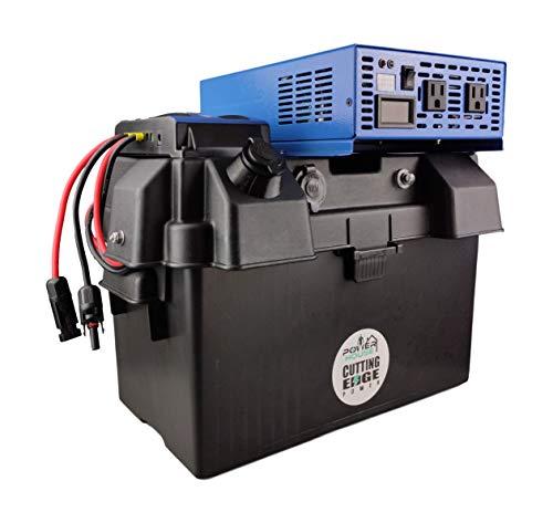 Cutting Edge Power 1500W Pure Sine MPPT Solar Generator, Portable Wind Solar Battery Box w Inverter, USB, 12V