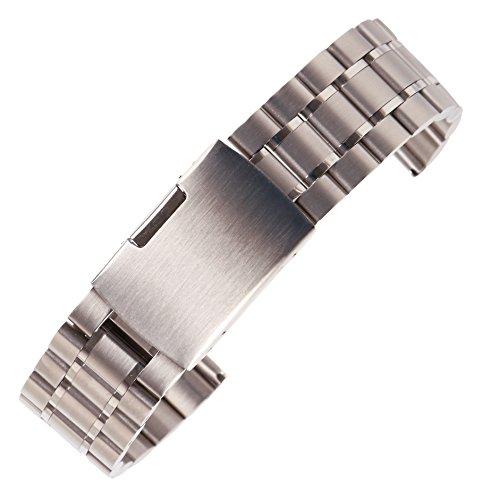 19 millimetri intercambiabili bracciale orologio in metallo spazzolato...