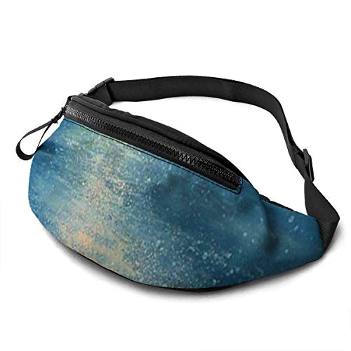 AOOEDM Watercolor Painting Sea Running Belt Fanny Pack Fashion Waist Pouch Bag for Men Women Sports Hiking