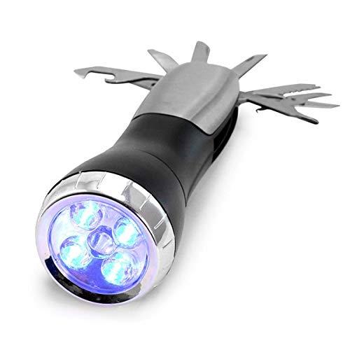 Eurroweb Lampe LED avec Outils - Lampe Torche Multi Fonctions Couleur - Noir/Gris