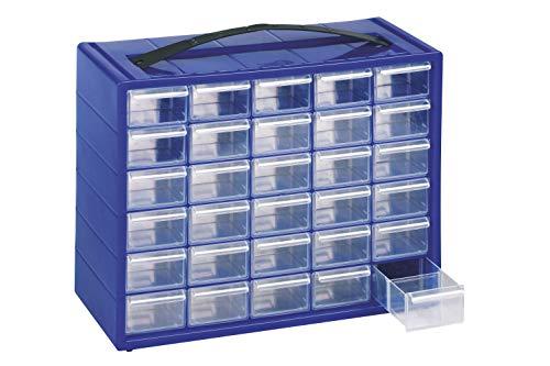 Cassettiera Monoblocco Mobil Plastic 'Espace 30' in Resina Antiurto e Cassetti Infrangibili con Fermo e divisori estraibili.
