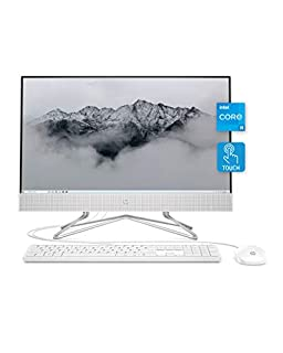 """HP All-in-One Desktop PC, 11th Gen Intel Core i5-1135G7 Processor, 8 GB RAM, 512 GB SSD Storage, Full HD 23.8"""" Touchscreen, Windows 10 Home, Remote Work Ready, Mouse and Keyboard (24-df1270, 2021) (B08JVMT8Y9)   Amazon price tracker / tracking, Amazon price history charts, Amazon price watches, Amazon price drop alerts"""