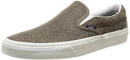 Vans Unisex Classic Slip On Cheetah Suede Skate Shoe-Cheetah Suede/Tan-6-Women/4.5-Men