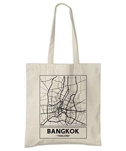 Super Cool Totes Bangkok, Thailand, Stadtplan Einkaufstasche (Design 1)