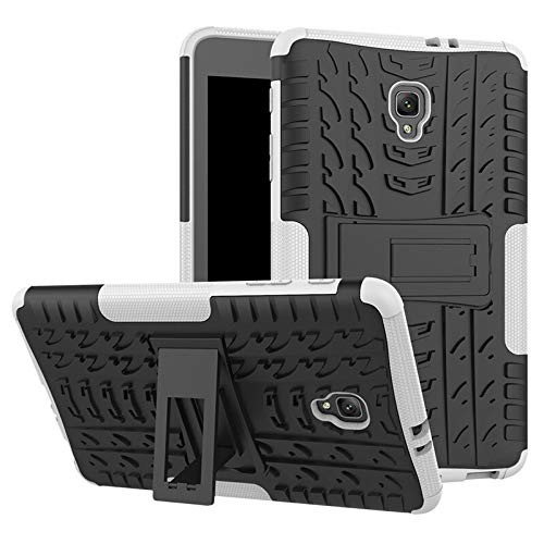 QiuKui Tab Cover For Samsung Galaxy Tab A 8.0 T380 T385 2017, Heavy Duty 2in1 Hybrid Anti-knock Rugged Durable Shockproof Rubber Tablet Cover For Samsung Galaxy Tab A 8.0 (Color : Whiter black)