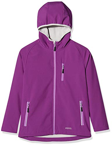 Amazon Marke: Eono Essentials Junior-Softshell-Jacke mit fester Kapuze, winterjacke, Violett, 140