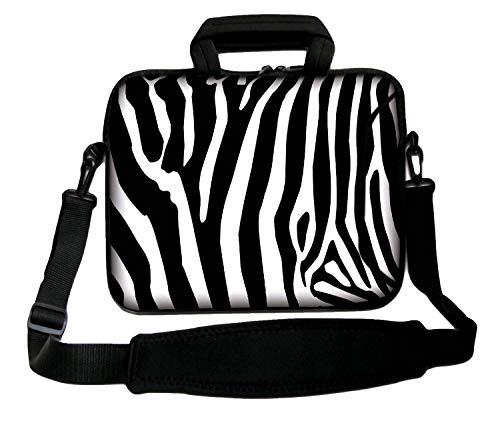 Luxburg - Borsa morbida per computer portatile da 13', con manico, motivo: zebrato
