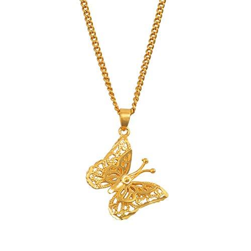 Originalbambooboutique Little Glamour Mariposa Colgante Collar Niña Niña Golden PNG Regalo # 006609