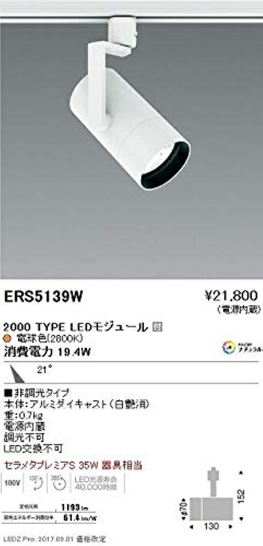 ENDO LEDスポットライト 配線ダクトレール用 セラメタプレミアS35W相当 電球色2800K Ra98 中角 白 ERS5139W (ランプ付)