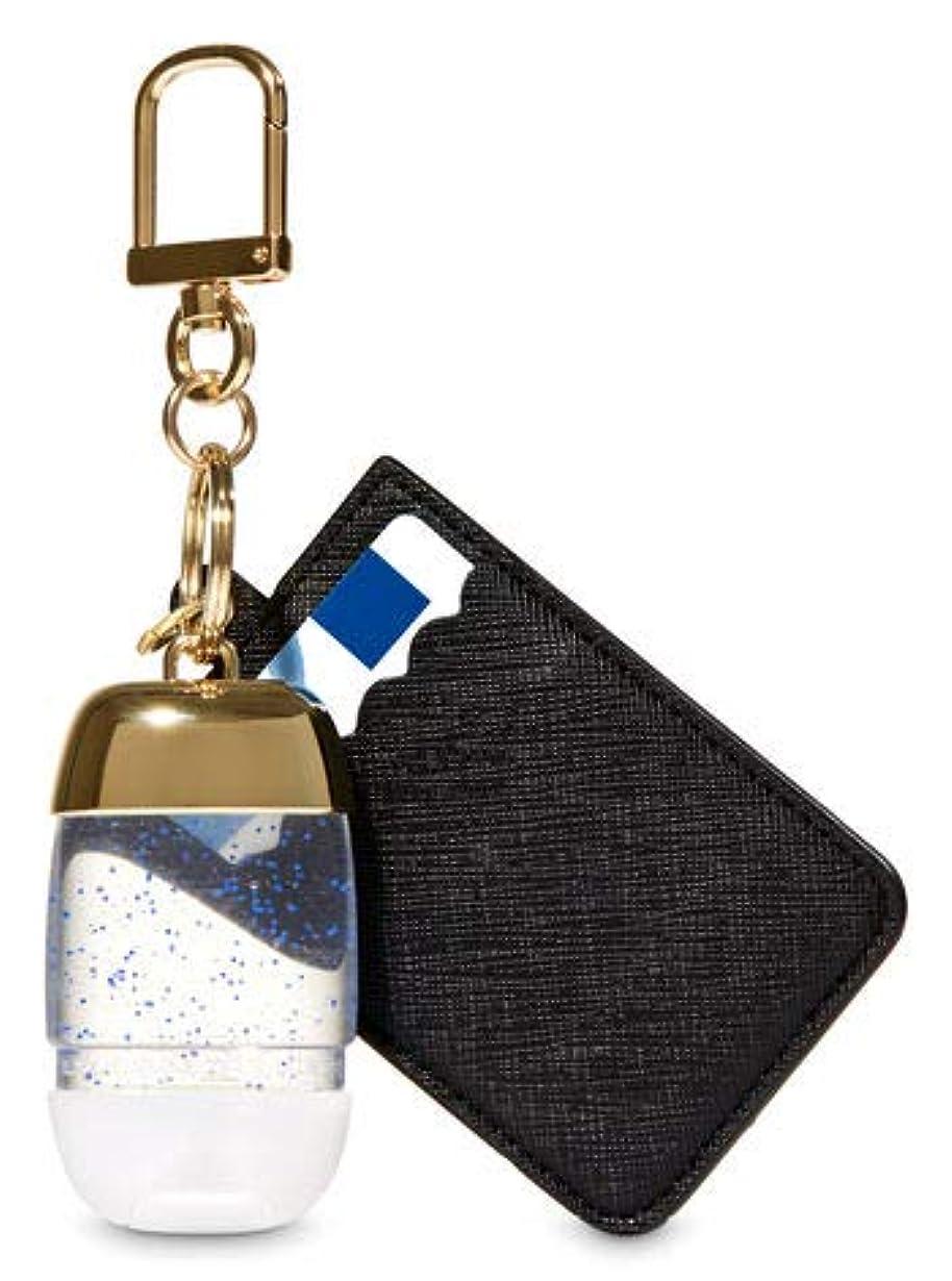 レイ居間結紮【Bath&Body Works/バス&ボディワークス】 抗菌ハンドジェルホルダー カードケース ブラック&ゴールド Credit Card & PocketBac Holder Black & Gold [並行輸入品]