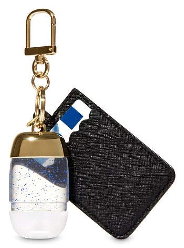 宗教ファイバ純粋な【Bath&Body Works/バス&ボディワークス】 抗菌ハンドジェルホルダー カードケース ブラック&ゴールド Credit Card & PocketBac Holder Black & Gold [並行輸入品]