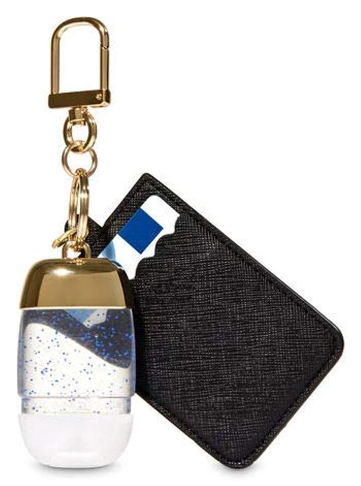 マウスピースジャングル肘掛け椅子【Bath&Body Works/バス&ボディワークス】 抗菌ハンドジェルホルダー カードケース ブラック&ゴールド Credit Card & PocketBac Holder Black & Gold [並行輸入品]