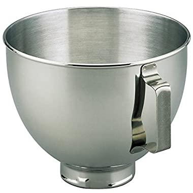 KitchenAid K45SBWH 4.5 Qt SS Mixer Bowl with Handle (Certified Refurbished)