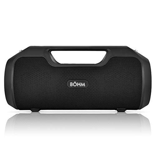 BÖHM Impact Plus Wireless Bluetooth Speaker Water Resistant IPX4 40W Premium HD Sound Powerbank Dual Pairing TWS Stereo - Black