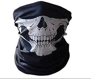 Motorcycle bike bicycle outdoor half face skull mask ghost windproof sandproof safari bandana multi purpose horror skelato...