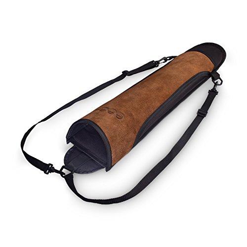 est-Hunter Pfeil-Köcher für den Rücken, echtes Leder (braun)