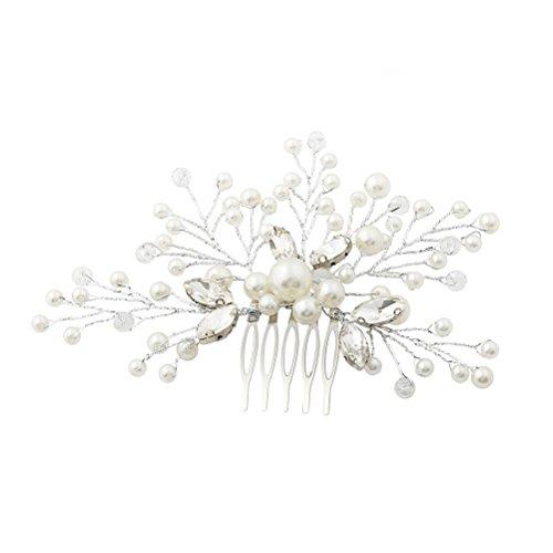 Peinetas para el cabello de boda con abalorios y pedrería Nupcial tocados...