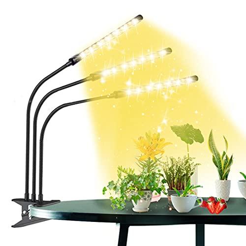 LED Pflanzenlampe,Romwish 198 LEDs, Mit Timer, 9 Stufen Dimmbar wachstumslampe Pflanzenlicht , mit rot-blau-weißem Vollspektrum, Geeignet für Gewächshaus, Innengarten, Gemüse- und Obstwachstum