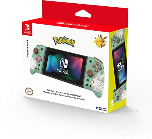 Hori Nintendo Switch Split Pad Pro (Pokemon: Pikachu & Eevee) By - Officially Licensed By Nintendo and the Pokemon Company International - Nintendo Switch