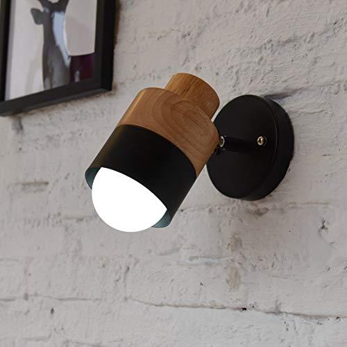 Appliques murales en bois métal léger décoratif Nachttischlampe réglable simplicité minimalisme tête de lavabo couloir lampe murale A E