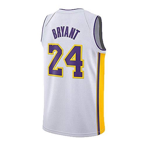 MIHSDFH Youth Kobe Jersey Los Angeles 24 Kid's Bryant Jersey Basketball Boy's White Jersey(S-XL) (M)