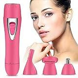 Gesichtshaarentferner für Frauen - Innoo Tech Haarentferner Gesicht für Frauen, 4 in 1 USB Damenrasierer Gesicht, Schmerzlose Haarentferner für Körper/Nase/Gesicht & Augenbrauen