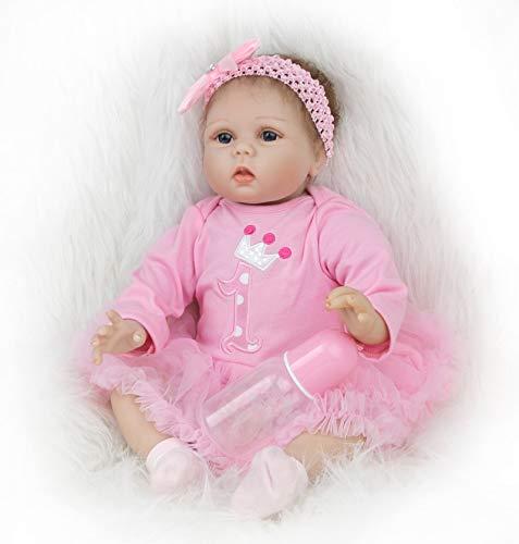 ZIYIUI 22 Pollice 55 cm Bambole Reborn Realistica Bambola Reborn Femmina in Silicone Morbide Vinile Reborn Toddler Babies Reborn Femmina Toddler Babies Reborn Baby Doll Giocattoli Regalo di Compleanno