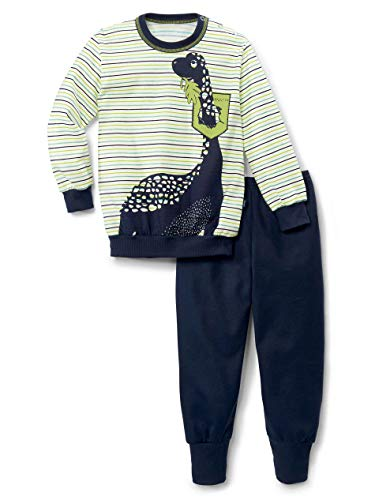 Calida Toddlers Dino Juego de Pijama, Azul Marino, 80 para Bebés