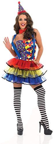 Fun Shack Déguisement Clown Sexy Bleu pour Femme - Taille M