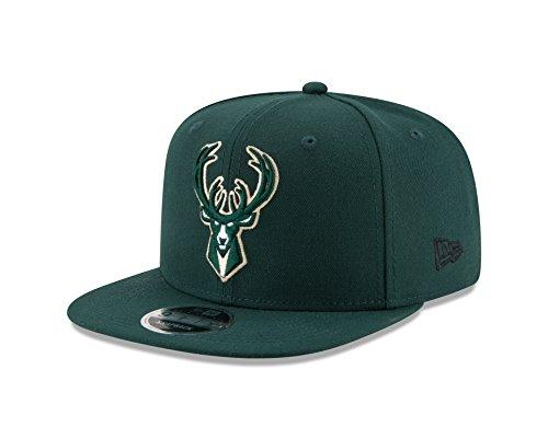 New Era NBA Milwaukee Bucks Men's 9Fifty Original Fit 2Tone Snapback Cap, One Size, Dark Green