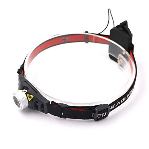 Torcia Frontale LED Faro del foglio di illuminazione professionale 2 Modalità impermeabile Q5 LED Lampada a testa Lampada Super Bright Lanterna Lanterna con fascia per la caccia Sport all'aperto