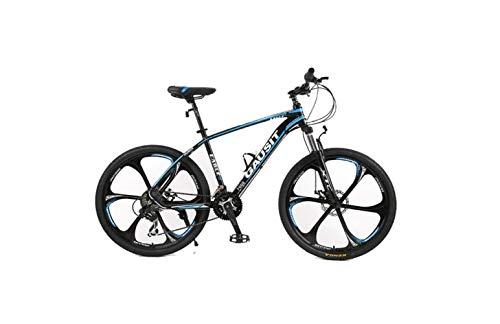 Bicicleta de Montaña Bicicleta Rígida Unisex Bicicleta de Montaña 24/27/30 Velocidades 26 Pulgadas Ruedas de 6 Radios Bicicleta de Cuadro de Aluminio con Frenos de Disco Y Horquilla de Suspensión