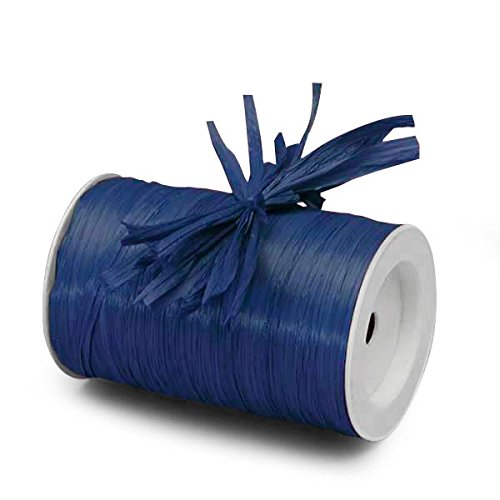 Paper Mart Royal Blue Matte Raffia Ribbon - 1/4 ''x100 yd
