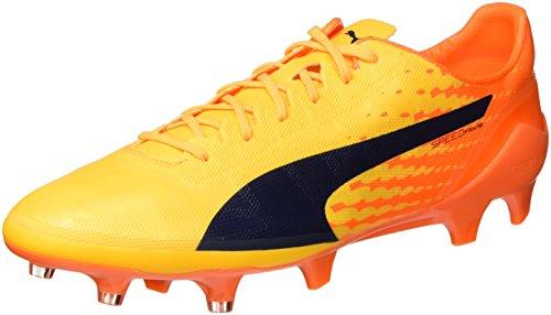 PUMA Evospeed 17 SL Fg, Scarpe da Calcio Uomo, Giallo (Ultra Yellow-Peacoat-Orange Clown Fish 07), 43 EU