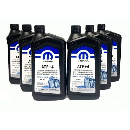 Mopar 68218057AB ATF+4 Automatic Transmission Fluid, 1 Quart (6 Pack)