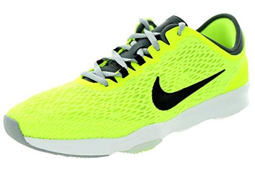 Nike Wmns Zoom Fit, Zapatillas de Gimnasia para Mujer, Amarillo (Volt/Black-Dark Grey-White), 40 EU