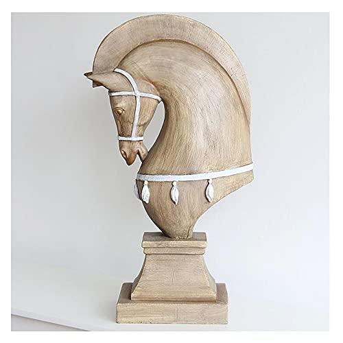 Abstract Paard Beeldhouwkunst Standbeelden, Rustieke Imitatie Oude Rustieke Stijl Woonkamer Decoratieve Ornamenten…