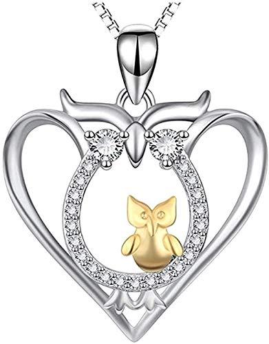 LBBYMX Co.,ltd Collar para Mujer Joyas de Plata Collar Animales Búho Dorado Colgante Joyas para Mujer Collar