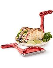 Usmato Taco Shell Maker, Taco broodrooster bakken gereedschap, knapperige Taco's en gezonde mossels rechtstreeks van uw broodrooster brengen Taco's naar het volgende niveau, 2PCS