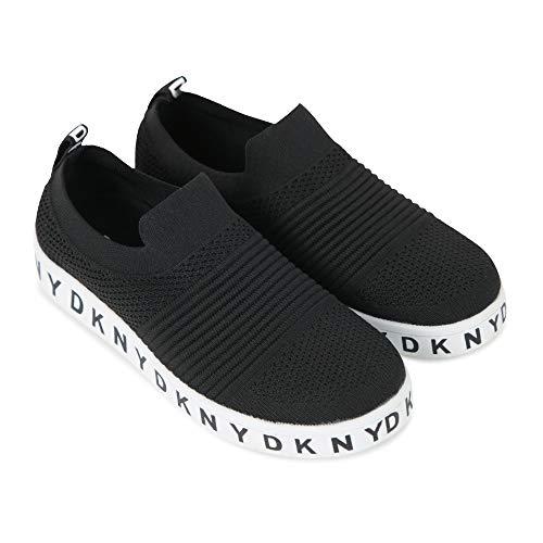 Dkny D39024 - Zapatillas Deportivas Para Niña, Color Negro, Color Negro, Talla 35 Eu