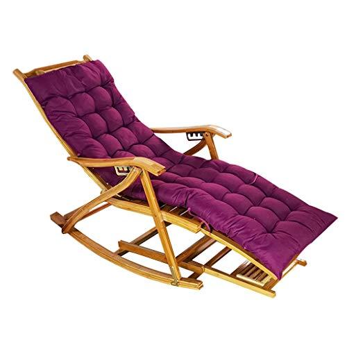 Tumbona Butaca Plegable Super Ancho Tumbonas portátiles Sillas reclinables para Patio al Aire Libre Sentado y acostado de Doble Uso con Almohadilla de algodón Acolchada para Viajes en Interiores y e
