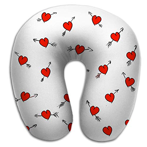 U-förmige Kissen-Hals-Reise-Kissen-Auto-Flugzeug-Hand gezeichnete Liebe weiße Hochzeit Valentinstag S Mädchenhafte romantische Textil-Geschenkpapier Retro